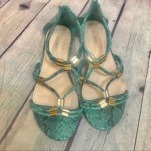 Via Pinky Leather Snake Skin Sandals Size 7